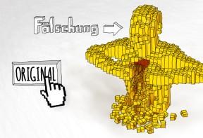 """Illustration """"Yellow"""" nach einem Werk von Nathan Sawayaåç"""